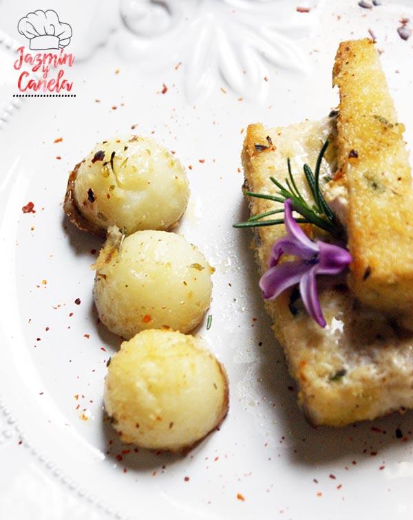 Pez espada, patatas y tomates al horno 9