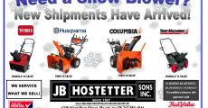 We have Snow Blowers In stock now!