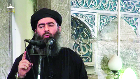 "The self-proclaimed ""Caliph,"" Abu Bakr al-Baghdadi"
