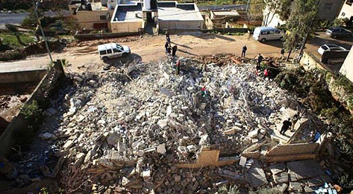 Ruins of a Muhannad Halabi's house