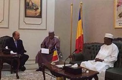Israeli Foreign Ministry Director General Dore Gold meeting with President Idriss Deby of Chad, July 14, 2016.