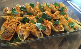 ::Vegan Spicy Stuffed Shells::