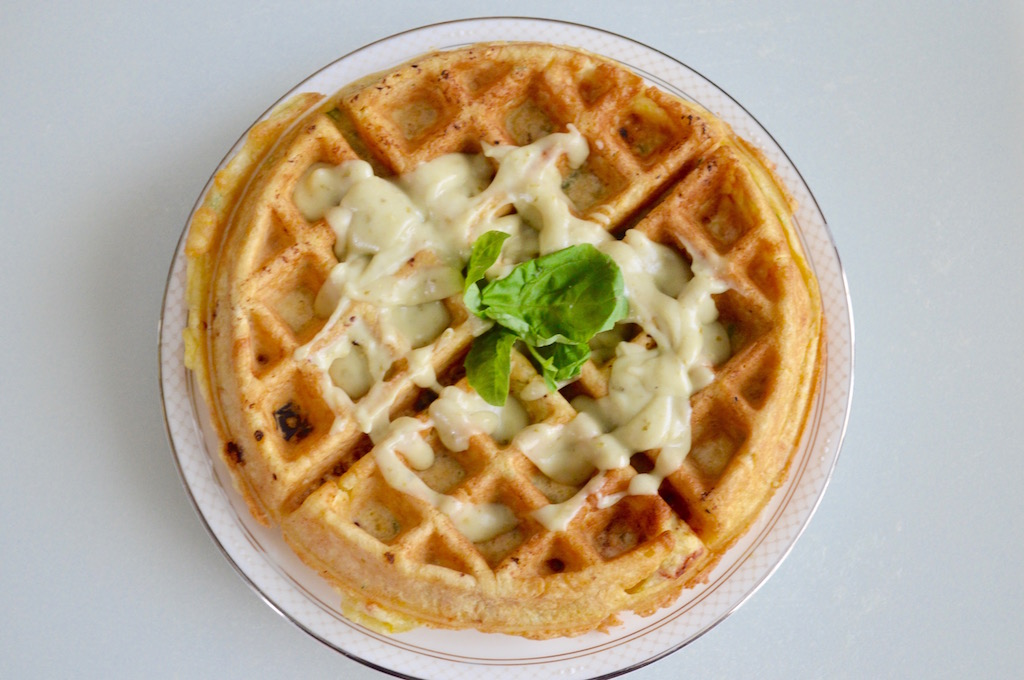 Sun-Dried Tomato and Spinach Waffles