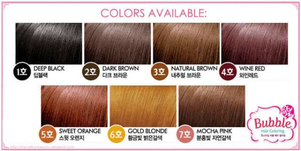 Brown Hair Color Swatches