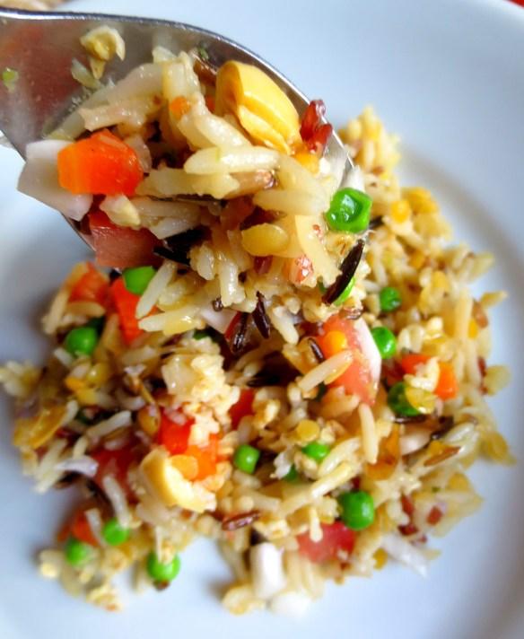 Salade aux trois riz avoine l gumes bio je cuisine donc je suis - Recette saine et equilibree ...