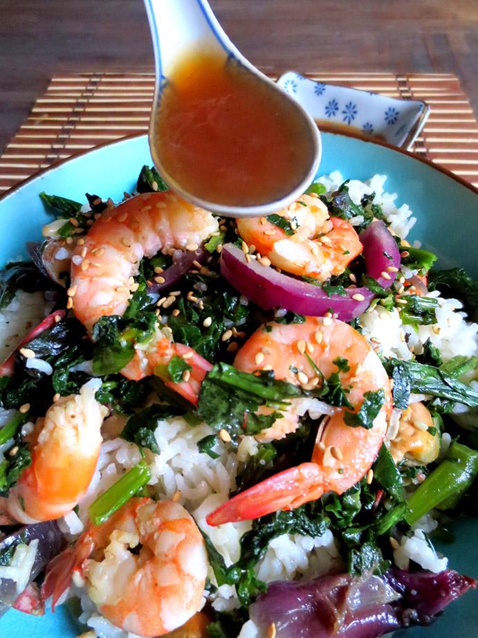 crevettes saut es au brocoli chinois blogs de cuisine. Black Bedroom Furniture Sets. Home Design Ideas