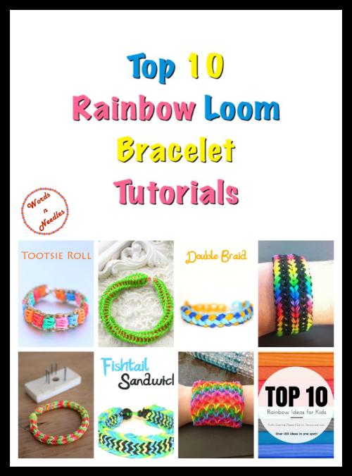 top ten rainbow loom band bracelet ideas tutorials crafts kids rubber bands