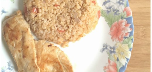 Turkish Bulgur wheat Pilaf Recipe Vegetarian side dish with kebabs or steaks