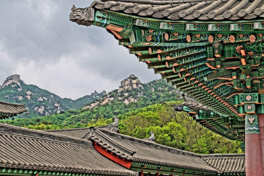 Ryongtongsa - detale dachu