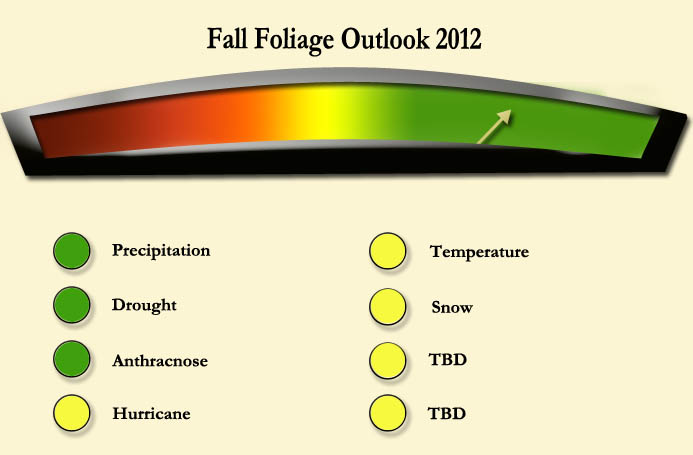 my foliage meter to visually show where we are for this falls foliage season
