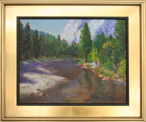 Yosemite View of El Capitan - ©2015 Jefferis Peterson For Sale $450 Oil on Canvas