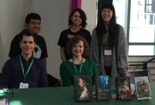 With Students, Staff, Author Julie Berry, and Author/Illustrator Jen Wang