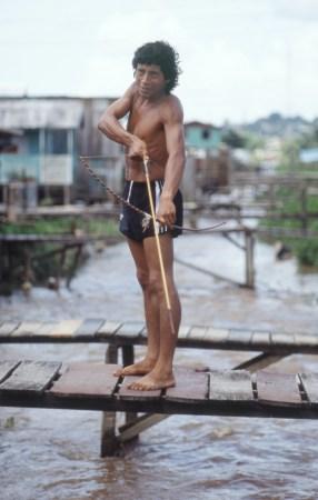 Displaced Indigenous Man in Manaus