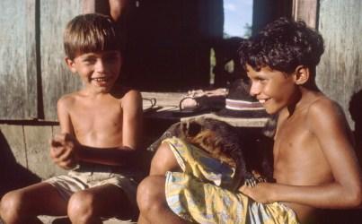 Boys with Pet Coati, Rondonia
