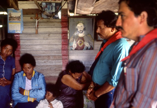 Ortega with Grieving Miskito Mother