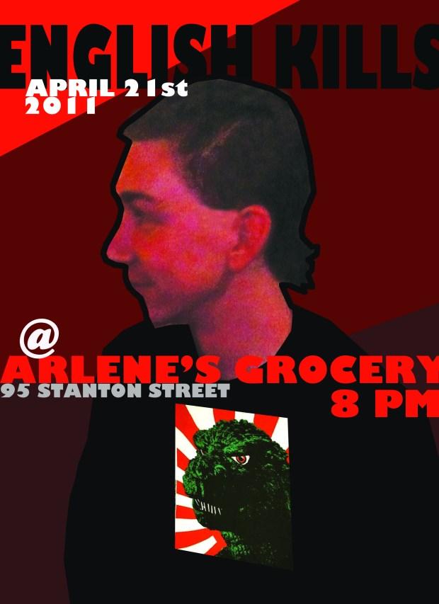 English Kills concert poster featuring Jeffrey Donenfeld