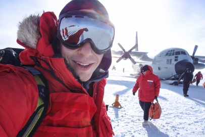 Finally, arrived at the South Pole. On the day I arrived, the temperature was -40 degrees - that first breath of air was cold!