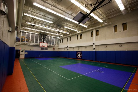 Our gymnasium, which is also used as a social events space.