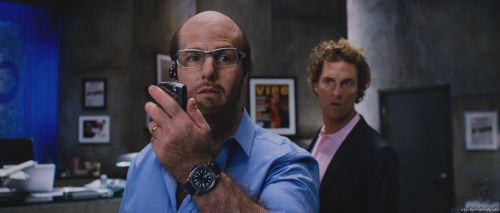 Tom Cruise as Les Grossman with Matthew McCoughnahey in Tropic Thunder