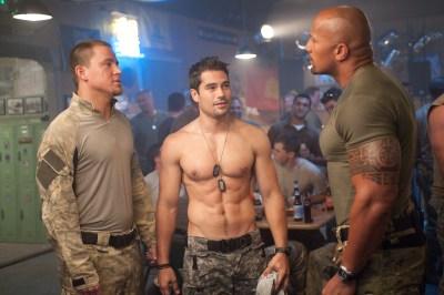 Jamie Trueblood/Paramount PicturesDuke (Channing Tatum), Flint (D.J. Cotrona) and Roadblock (Dwayne Johnson).