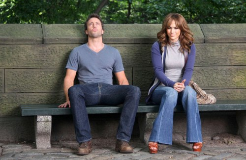 The Back-Up Plan Jennifer Lopez and Alex O'Loughlin sitting