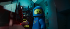 Courtesy of Warner Bros. Pictures LEGO® minifigures Batman (voiced by Will Arnett) and Benny (Charlie Day).
