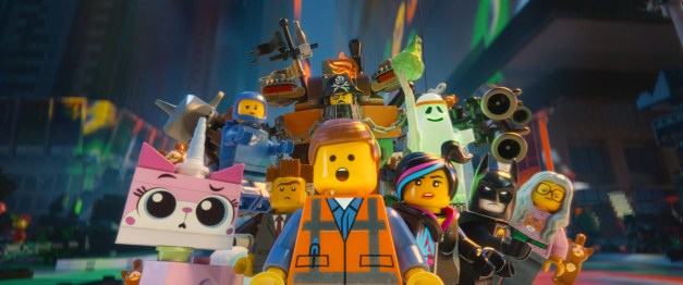 Courtesy of Warner Bros. Pictures LEGO® characters Unikitty (voiced by Alison Brie), Benny (Charlie Day), Metal Beard (Nick Offerman), Vitruvius (Morgan Freeman), Batman (Will Arnett), Wyldstyle (Elizabeth Banks), Emmet (Chris Pratt) and President Business (Will Ferrell)