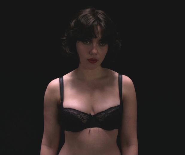 Under the Skin movie - Scarlett Johansson in the dark room