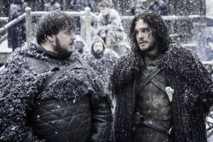Game of Thrones - S5Ep. 9 - Dance of Dragons - Sam and Jon Snow at Castle Black