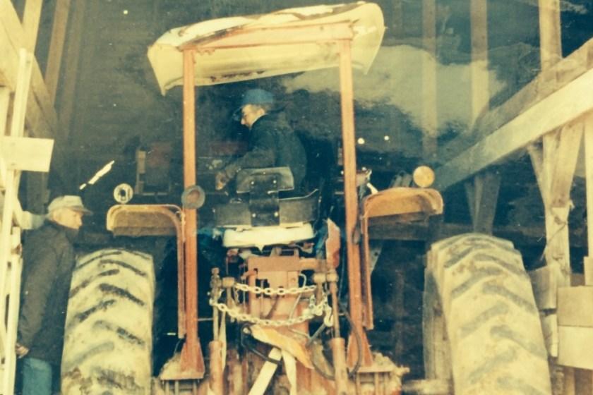 reginald pillow on tractor old well virginia