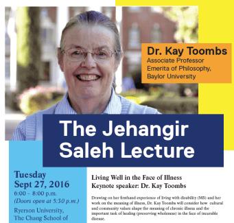 Jehangir Saleh Lecture 2016