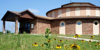Meditation Pagoda at the Southwest Vipassana Center in Texas