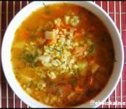 Sycąca zupa z trzech kasz