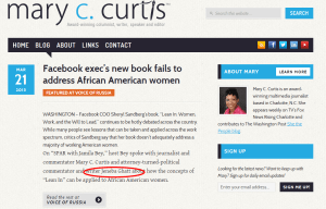 Facebook exec's new book fails to address African American women   Mary C. Curtis