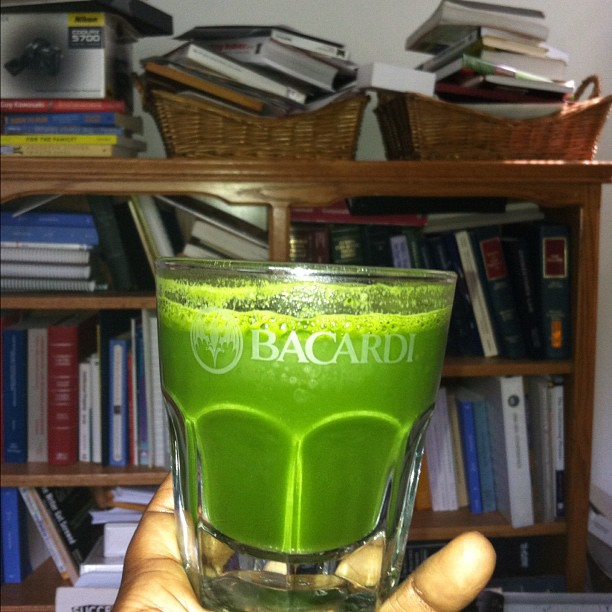 glass of wheatgrass