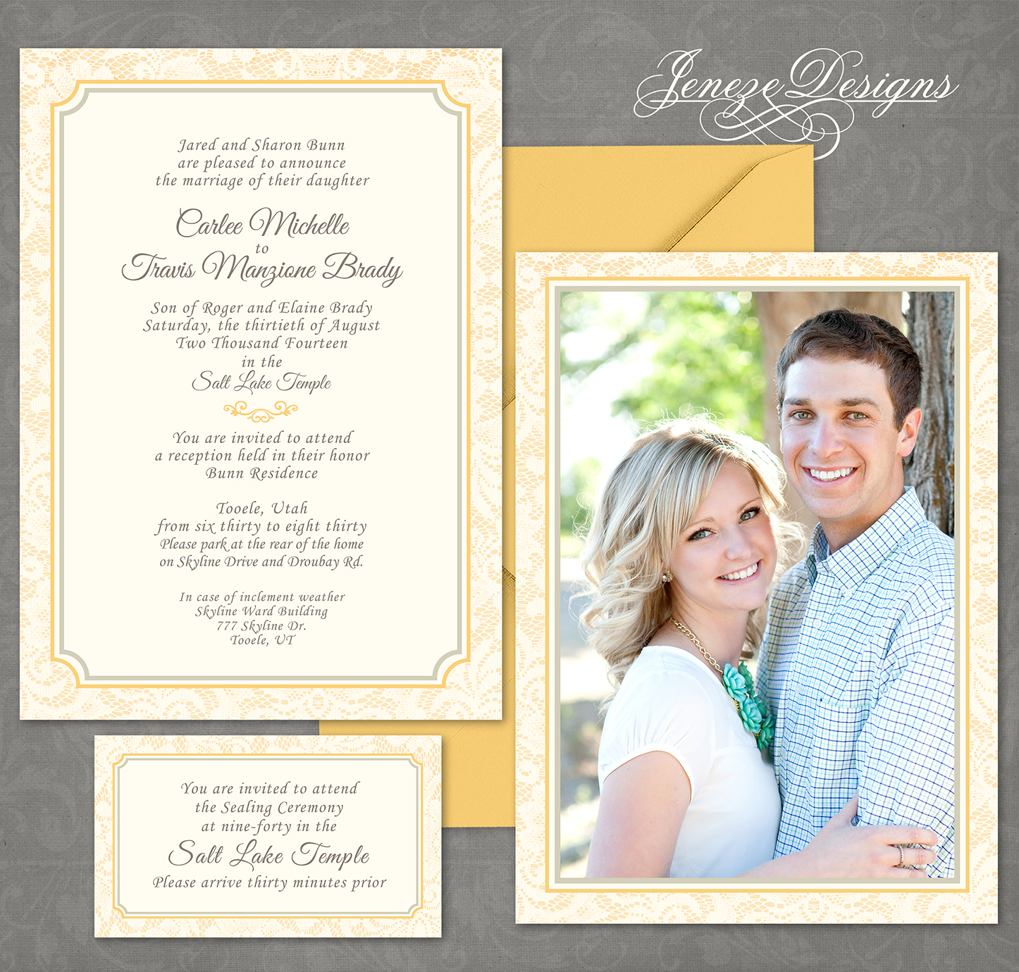 lace lds wedding invitations CA Posted in Photo Invitations Wedding