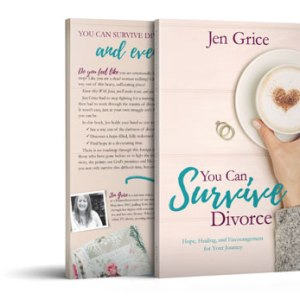 You Can Survive Divorce Paperback book cover and back