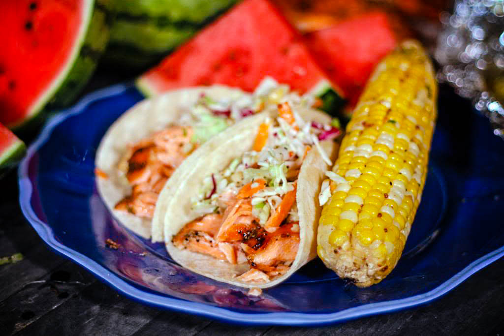 Sweet and Spicy Salmon Fish Tacos | Jennifer Cooks