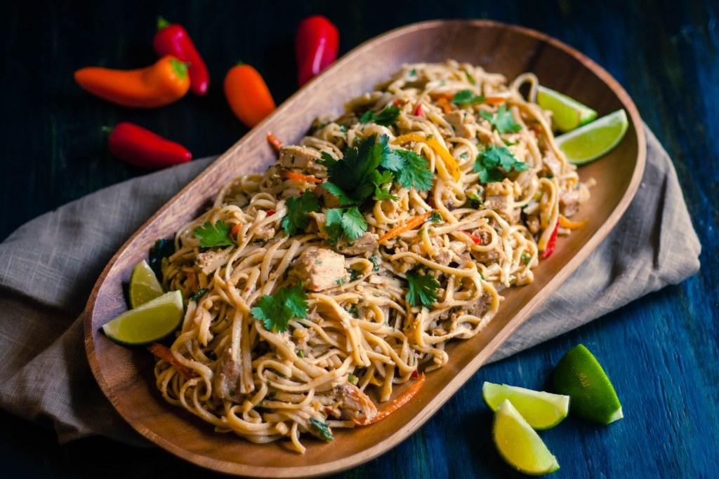 Spicy Peanut Chicken Udon Noodle Salad   Jennifer Cooks