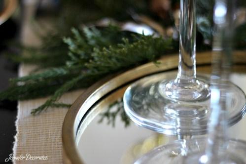 Christmas table setting idea from Jennifer Decorates.com