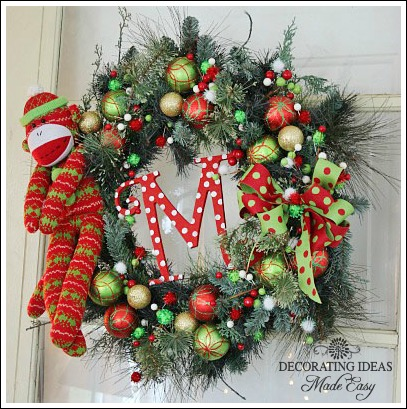Christmas Wreath Decorating Ideas Christmas wreath ideas from Jennifer Decorates com