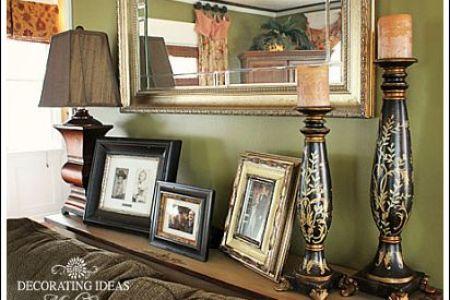 living room decorating ideas sofa table