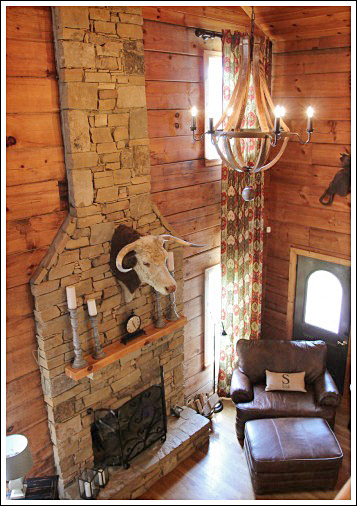 Log Cabin Living Room Before And After Photos