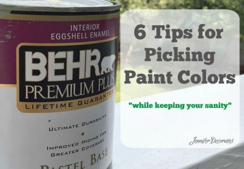 picking paint colors - help from Jennifer Decorates.com