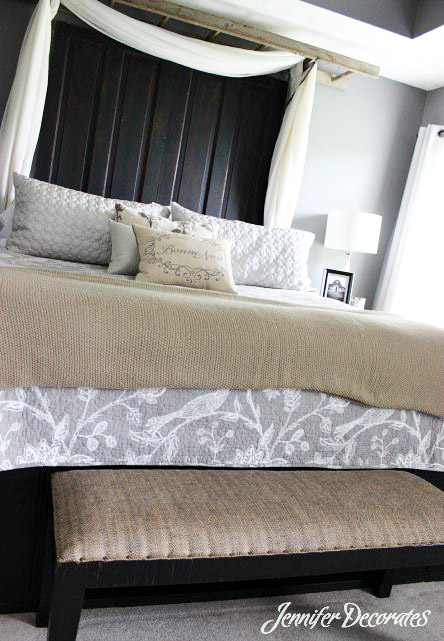 Unique headboard idea jennifer decorates for Unique headboard ideas