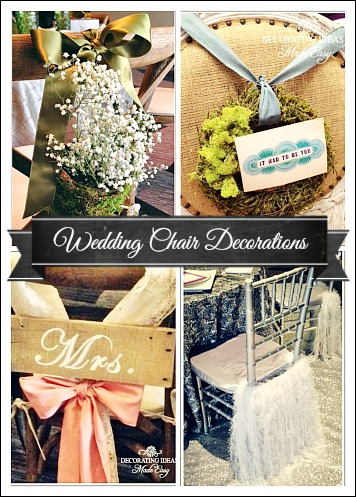 Wedding Chair Decorations That Are Beautiful And Inexpensive