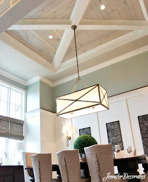 Wood ceiling ideas jennifer decorates for Great ceiling ideas
