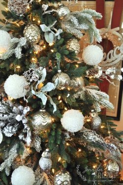 Remarkable Vintage Tinsel Tree Silver Tree Bows Silver Tree