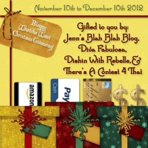 Christmas Bloggy Giveaway 300x300 FREE Blogger Opportunity | Bloggy Whatcha Want Christmas Giveaway
