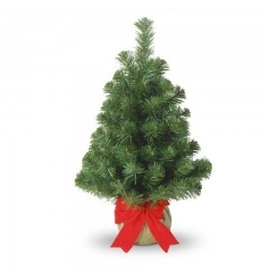 ChristmasTree3 NATIONAL TREE COMPANY 2' NOBLE SPRUCE TREE  #REVIEW